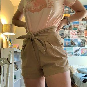 Free People tie cargo shorts!